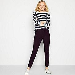 Maine New England - Plum stretch straight leg jeans