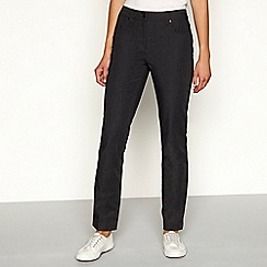 Maine New England - Grey marl straight leg trousers