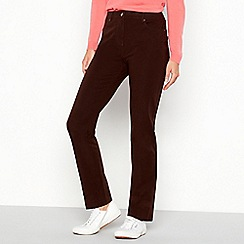 Maine New England - Chocolate stretch straight leg jeans
