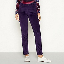 Maine New England - Plum stretch straight cord trousers