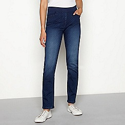 Maine New England - Blue denim spotted jeggings