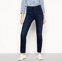 Maine New England - Dark Blue Dark Wash 'Cosy' Straight Leg jeans