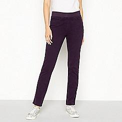 Maine New England - Dark purple ribbed waistband jeggings