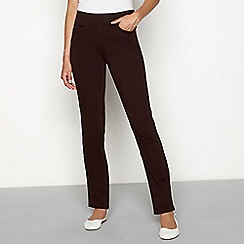 5cebe7a71de Maine New England - Chocolate brown straight leg jeggings