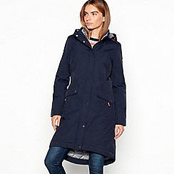 Maine New England - Navy lined padded shower resistant coat