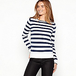Maine New England - Navy striped knit jumper