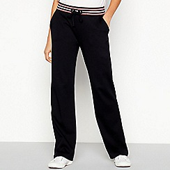 Maine New England - Black Multicoloured Stripe Cotton Jogging Bottoms