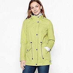 Maine New England - Lime green hooded showerproof jacket