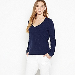 Maine New England - Navy Cable Knit 'Ultra soft' Jumper