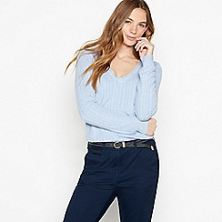 Maine New England - Light Blue Cable Knit 'Ultra soft' Jumper