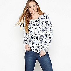 Maine New England - White Lavender Print 'Ultra soft' Jumper