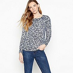 Maine New England - Navy Ditsy Print 'Ultra soft' Jumper