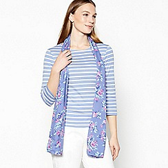 Maine New England - Blue striped cotton top and floral scarf