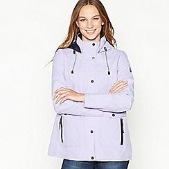 Maine New England - Purple Fleece Lined Rain Resistant Jacket