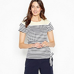Maine New England - Yellow Striped Cotton Top
