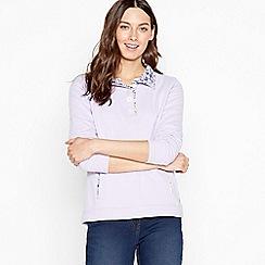 Maine New England - Lilac Half Button Sweatshirt