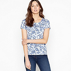 Maine New England - Light Blue Watercolour Print Cotton T-Shirt