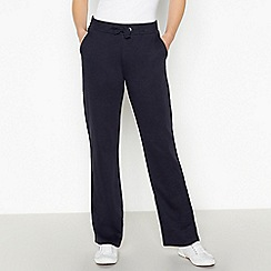 Maine New England - Navy Quilted Waist Jogging Bottoms