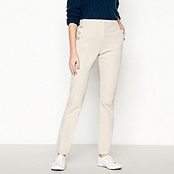Maine New England - Natural 'Bi-Stretch' Straight Fit Trousers