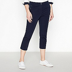 Maine New England - Navy 'Sailor' crop trousers