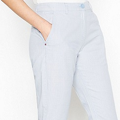 Maine New England - Blue Striped Cropped Chinos
