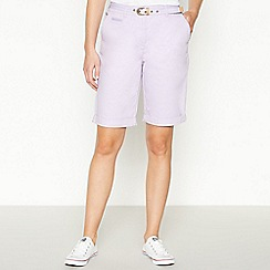 Maine New England - Purple Stabstitch Belted Chino Shorts
