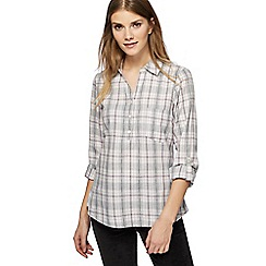 Maine New England - Lilac check print shirt