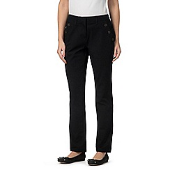 Maine New England - Black bi-stretch trousers
