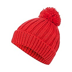 Red Herring - Red knitted pom pom hat