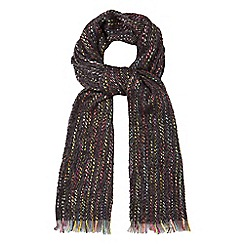 Red Herring - Multi-coloured neon speckle woven scarf
