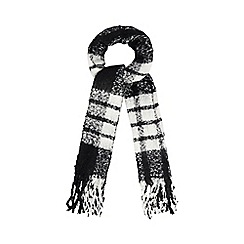 Red Herring - Black and white boucle scarf