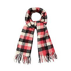Red Herring - Pink boldcheck print scarf