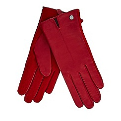 J by Jasper Conran - Red leather gloves
