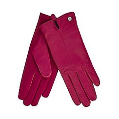 J by Jasper Conran - Pink leather gloves