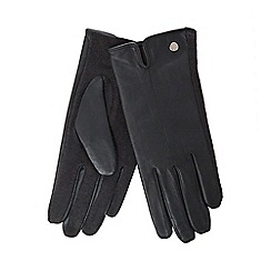 J by Jasper Conran - Dark green leather gloves