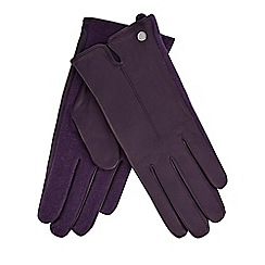 J by Jasper Conran - Dark purple leather gloves