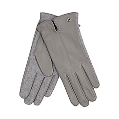 J by Jasper Conran - Grey leather gloves