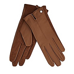 J by Jasper Conran - Tan leather gloves