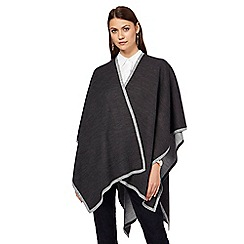 J by Jasper Conran - Dark grey reversible wrap
