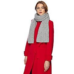 J by Jasper Conran - Grey scarf with mohair