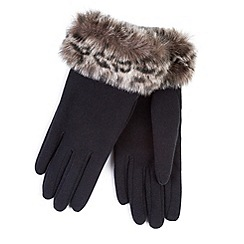 Totes - Thermal gloves with faux fur cuff