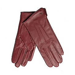 RJR.John Rocha - Dark red leather gloves
