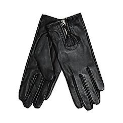 RJR.John Rocha - Black front zip tassel gloves