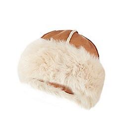 RJR.John Rocha - Tan faux sheepskin Cossack hat