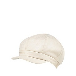 RJR.John Rocha - Cream suedette faux fur lined baker boy hat