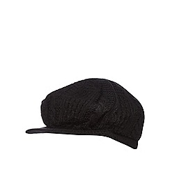 RJR.John Rocha - Black cable knit baker boy hat
