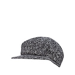 RJR.John Rocha - Grey cable knit baker boy hat