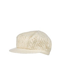 RJR.John Rocha - Cream cable knit baker boy hat