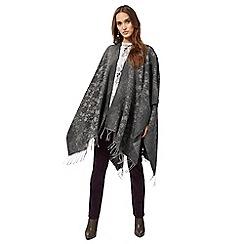 RJR.John Rocha - Grey woven floral lace wrap