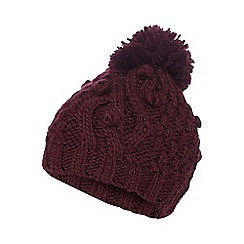 RJR.John Rocha - Plum knitted bobble hat